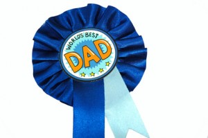 Dads rosette isolated