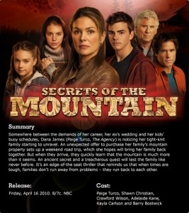 Secrets of the Mountain movie poster