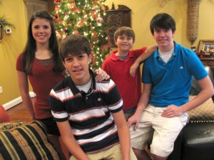 (L-R) Carlie, Harrison, Evan, and Cole